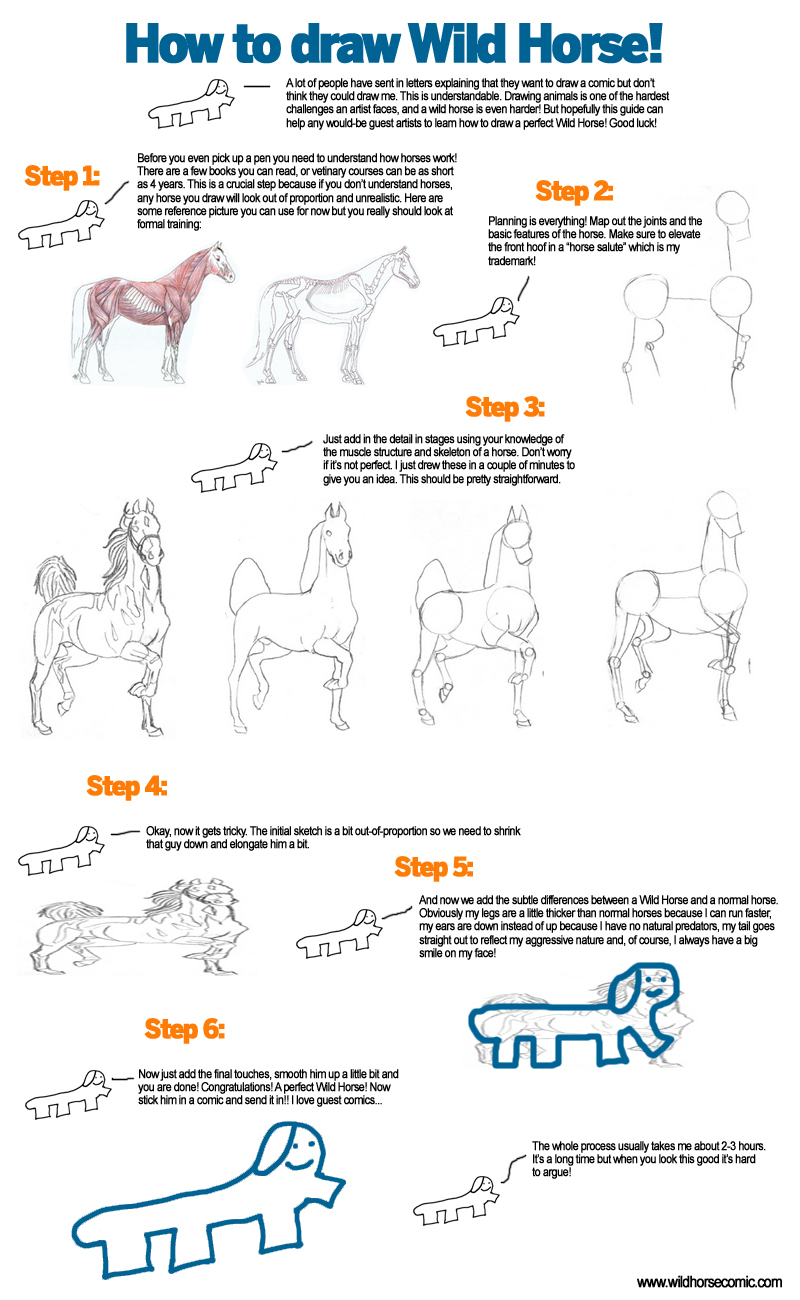 Use A Pen Too Pencils Are For Dickheads Fact Wild Horse! '�  Theic How  Howtodraw Bubble